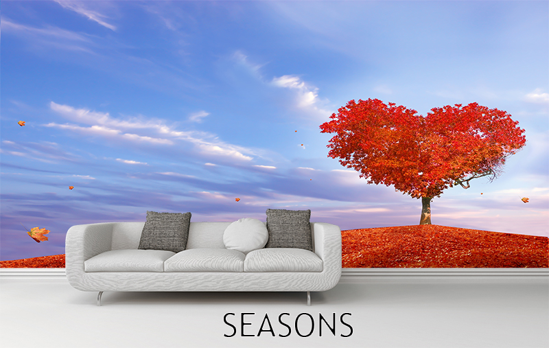 Wall murals seasons for 4 seasons mural