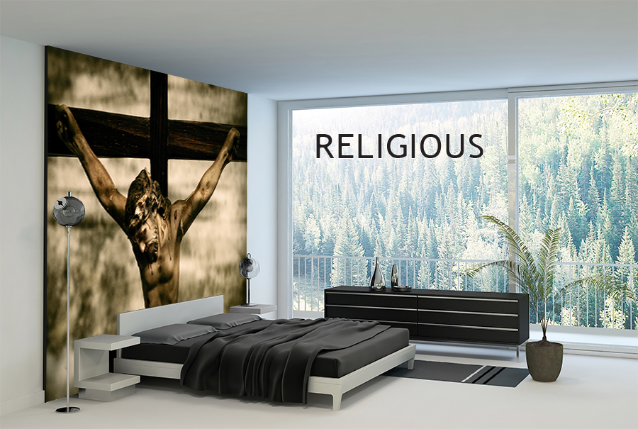 Wall murals religious for Church wall mural